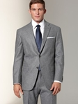 Hart Schaffner Marx Grey Flannel Pinstripe Suit 482342183 - Suits | Sam's Tailoring Fine Men's Clothing