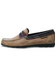 Mephisto ALYON - Dark Taupe Nubuck/Dark Brown Smooth 2965/351 ALYON-965 - Loafers Men's Shoes | Sam's Tailoring Fine Men's Clothing