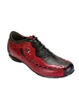 Belvedere Black Red CORONA Lizard and Caiman Skin Shoes 2801-BlackRed - Fall 2013 Collection | Sam's Tailoring Fine Men's Clothing