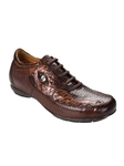 Belvedere Dark Brown Brown CORONA Lizard and Caiman Skin Shoes 2801-DarkBrownBrown - Fall 2013 Collection | Sam's Tailoring Fine Men's Clothing