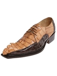Belvedere Brown Camel ZENO Genuine Hornback Leather Shoes 3400 - Fall 2014 Shoe Collection | Sam's Tailoring Fine Men's Clothing