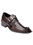 Belvedere Brown Ebano Genuine Hornback and Ostrich Leather Shoes 3405 - Fall 2014 Shoe Collection | Sam's Tailoring Fine Men's Clothing