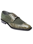 Belvedere Olive Pergola Genuine Crocodile and Suede Leather Shoes 1452 - Fall 2014 Shoe Collection | Sam's Tailoring Fine Men's Clothing