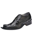 Belvedere Black ASINO Genuine Ostrich and Crocodile Leather Shoes 3406 - Fall 2014 Shoe Collection | Sam's Tailoring Fine Men's Clothing