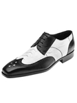 Belvedere White and Black Tropea Genuine Ostrich and Italian Calf Skin Shoes 3P2-WhiteBlack - Spring and Summer 2014 Shoes | Sam's Tailoring Fine Men's Clothing