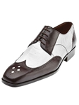Belvedere White and Brown Tropea Genuine Ostrich and Italian Calf Skin Shoes 3P2-WhiteBrown - Spring and Summer 2014 Shoes | Sam's Tailoring Fine Men's Clothing