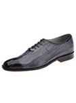 Belvedere Antique Gray Stella Genuine Eel Skin Shoes 1470-AntiqueGray - Spring and Summer 2014 Shoes | Sam's Tailoring Fine Men's Clothing