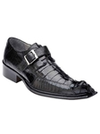 Belvedere Black Ebano Genuine Hornback and Ostrich Leather Shoes 3405 - Fall 2014 Shoe Collection | Sam's Tailoring Fine Men's Clothing