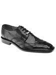 Belvedere Black Topo Genuine Hornback and Lizard Leather Shoes 1480 - Fall 2014 Shoe Collection | Sam's Tailoring Fine Men's Clothing