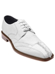 Belvedere White Topo Genuine Hornback and Lizard Leather Shoes 1480 - Fall 2014 Shoe Collection | Sam's Tailoring Fine Men's Clothing