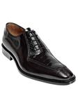 Belvedere Black Dino Genuine Ostrich and Italian Calf Leather Shoes 0B1 - Fall 2014 Shoe Collection | Sam's Tailoring Fine Men's Clothing