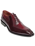 Belvedere Antique Red Dino Genuine Ostrich and Italian Calf Leather Shoes 0B1 - Fall 2014 Shoe Collection | Sam's Tailoring Fine Men's Clothing
