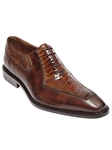 Belvedere Camel Antique Almond Antique Dino Genuine Ostrich and Italian Calf Leather Shoes 0B1 - Fall 2014 Shoe Collection | Sam's Tailoring Fine Men's Clothing