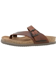 Mephisto Brown Natural Leather Sandal NIELS-6051 - Casual Sandals | Sam's Tailoring Fine Men's Clothing