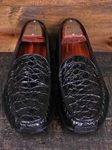 Martin Dingman Ebony Arlo Crocodile Leather Shoes 140025M - Spring and Summer 2014 Footwear | Sam's Tailoring Fine Men's Clothing