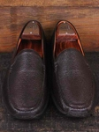 Martin Dingman Chocolate Arlo Deer Leather Shoes 531058M - Spring and Summer 2014 Footwear | Sam's Tailoring Fine Men's Clothing