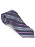 Robert Talbott Gray with Multi Color Stripes Wall Street Best Of Class Tie 56306E0-07 - Fall 2014 Collection Best Of Class Ties | Sam's Tailoring Fine Men's Clothing
