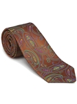 Robert Talbott Brown Orange with Paisley Design Picadilly Circus Best Of Class Tie 56098E0-03 - Fall 2014 Collection Best Of Class Ties | Sam's Tailoring Fine Men's Clothing
