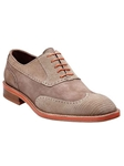 Belvedere Taupe Aldo Sanded Lizard and Nubuck Leather Shoes D83 - Fall 2014 Shoe Collection | Sam's Tailoring Fine Men's Clothing