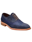 Belvedere Navy Aldo Sanded Lizard and Nubuck Leather Shoes D83 - Fall 2014 Shoe Collection | Sam's Tailoring Fine Men's Clothing