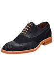 Belvedere Black Aldo Sanded Lizard and Nubuck Leather Shoes D83 - Fall 2014 Shoe Collection | Sam's Tailoring Fine Men's Clothing