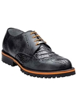 Belvedere Black Zara Genuine Crocodile Lug Rubber Sole Leather Shoes 3504 - Fall 2014 Shoe Collection | Sam's Tailoring Fine Men's Clothing