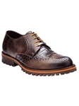 Belvedere Antique Brown Zara Genuine Crocodile Lug Rubber Sole Leather Shoes 3504 - Fall 2014 Shoe Collection | Sam's Tailoring Fine Men's Clothing