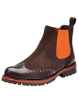 Belvedere Brown Orange Marte Genuine Lizard and Suede Leather Boots 3506 - Fall 2014 Shoe Collection | Sam's Tailoring Fine Men's Clothing