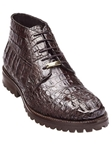 Belvedere Brown Orso Genuine Hornback Crocodile Lug Rubber Sole Leather Boots 3507 - Fall 2014 Shoe Collection | Sam's Tailoring Fine Men's Clothing