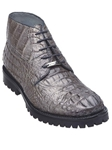 Belvedere Gray Orso Genuine Hornback Crocodile Lug Rubber Sole Leather Boots 3507 - Fall 2014 Shoe Collection | Sam's Tailoring Fine Men's Clothing