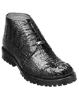 Belvedere Black Orso Genuine Hornback Crocodile Lug Rubber Sole Leather Boots 3507 - Fall 2014 Shoe Collection | Sam's Tailoring Fine Men's Clothing