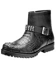 Belvedere Black Uovo Genuine Hornback Crocodile and Italian Calf Lug Rubber Sole Leather Boots 3500 - Fall 2014 Shoe Collection | Sam's Tailoring Fine Men's Clothing