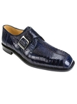 Belvedere Navy Dolce Genuine Ostrich Leather Shoes 740 - Fall 2014 Shoe Collection | Sam's Tailoring Fine Men's Clothing