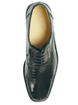 Belvedere Black Marco Genuine Ostrich Leather Shoes 714 - Fall 2014 Shoe Collection | Sam's Tailoring Fine Men's Clothing