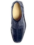 Belvedere Navy Marco Genuine Ostrich Leather Shoes 714 - Fall 2014 Shoe Collection | Sam's Tailoring Fine Men's Clothing