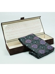 Robert Talbott Dark Forest Green with Lavender Floral Design Custom-Made Seven Fold Tie SAM-27 - Fall 2014 Collection Ties and Neckwear | Sam's Tailoring Fine Men's Clothing