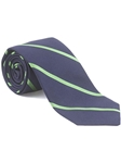 Robert Talbott Green and Navy Stripes Yankee Point Best Of Class Tie 57139E0-04 - Fall 2014 Collection Best Of Class Ties | Sam's Tailoring Fine Men's Clothing