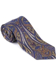 Robert Talbott Blue Yellow Paisley Design Villa Flori Print Seven Fold Tie 51425M0-02 - Fall 2014 Collection Ties and Neckwear | Sam's Tailoring Fine Men's Clothing