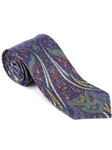 Robert Talbott Blue Red Paisley Design Villa Flori Print Seven Fold Tie 51425M0-03 - Fall 2014 Collection Ties and Neckwear | Sam's Tailoring Fine Men's Clothing