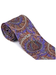 Robert Talbott Amethyst with Paisley Design Villa Flori Print Seven Fold Tie 51427M0-03 - Fall 2014 Collection Ties and Neckwear | Sam's Tailoring Fine Men's Clothing