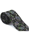 Robert Talbott Black with Botanical Design Arcimboldo Jacquard Seven Fold Tie 51741M0-01 - Fall 2014 Collection Ties and Neckwear | Sam's Tailoring Fine Men's Clothing