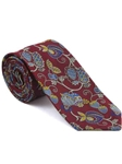 Robert Talbott Red with Botanical Design Arcimboldo Jacquard Seven Fold Tie 51741M0-05 - Fall 2014 Collection Ties and Neckwear | Sam's Tailoring Fine Men's Clothing