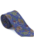 Robert Talbott Royal Blue with Botanical Design Arcimboldo Jacquard Seven Fold Tie 51741M0-06 - Fall 2014 Collection Ties and Neckwear | Sam's Tailoring Fine Men's Clothing