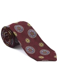 Robert Talbott Red with Floral Medallion Design Arcimboldo Jacquard Seven Fold Tie 51742M0-02 - Fall 2014 Collection Ties and Neckwear | Sam's Tailoring Fine Men's Clothing