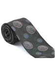 Robert Talbott Grey with Floral Medallion Design Arcimboldo Jacquard Seven Fold Tie 51742M0-04 - Fall 2014 Collection Ties and Neckwear | Sam's Tailoring Fine Men's Clothing