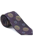 Robert Talbott Purple with Floral Medallion Design Arcimboldo Jacquard Seven Fold Tie 51742M0-05 - Fall 2014 Collection Ties and Neckwear | Sam's Tailoring Fine Men's Clothing