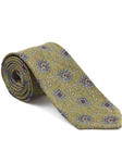 Robert Talbott Yellow with Exquisite Medallion Floral Design Arcimboldo Jacquard Seven Fold Tie 51743M0-03 - Fall 2014 Collection Ties and Neckwear | Sam's Tailoring Fine Men's Clothing