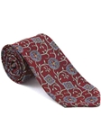 Robert Talbott Red with Exquisite Medallion Floral Design Arcimboldo Jacquard Seven Fold Tie 51743M0-04 - Fall 2014 Collection Ties and Neckwear | Sam's Tailoring Fine Men's Clothing