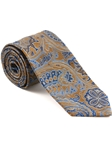 Robert Talbott Yellow Hearst Castle Paisley Design Seven Fold Tie 51890M0-04 - Spring 2015 Collection Ties and Neckwear | Sam's Tailoring Fine Men's Clothing