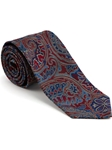 Robert Talbott Red Hearst Castle Paisley Design Seven Fold Tie 51890M0-05 - Spring 2015 Collection Ties and Neckwear | Sam's Tailoring Fine Men's Clothing